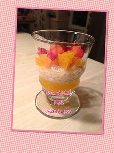 Perles du Japon et gelée d'orange