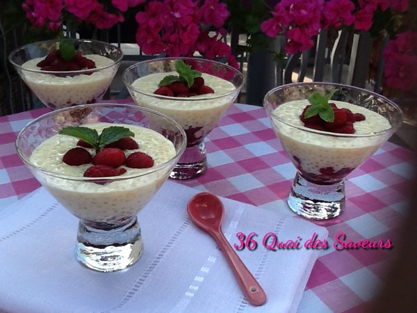 Crème-dessert-perlée-lait-de-coco-framboises