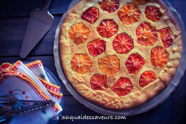 Tarte aux oranges sanguines