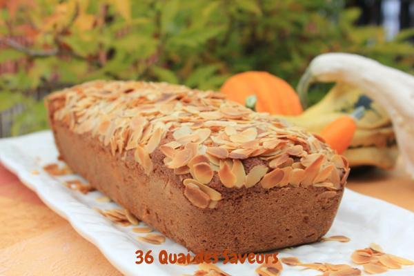 Cake au potiron et aux amandes 36 quai des saveurs - Cake au potiron sucre ...