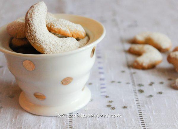 croissants vanillés amandes noix