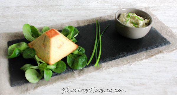 Flan au thon et fondue de poireaux