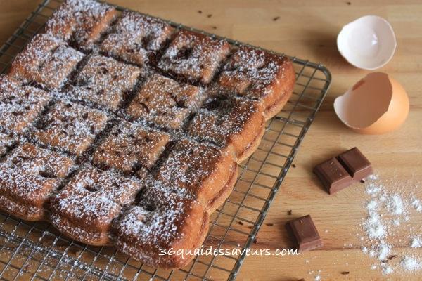 gâteau au chocolat caramel