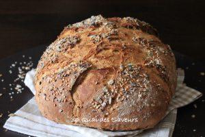 pain de seigle aux graines cuisson cocotte