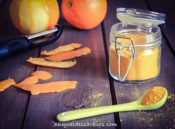 Poudre de zeste d'oranges… ou autres agrumes