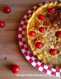 tarte au thon et tomates