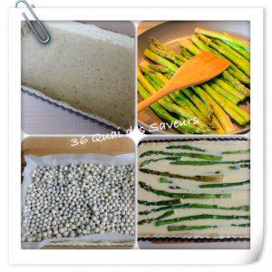 tarte aux asperges pâte brisée aux herbes de provence