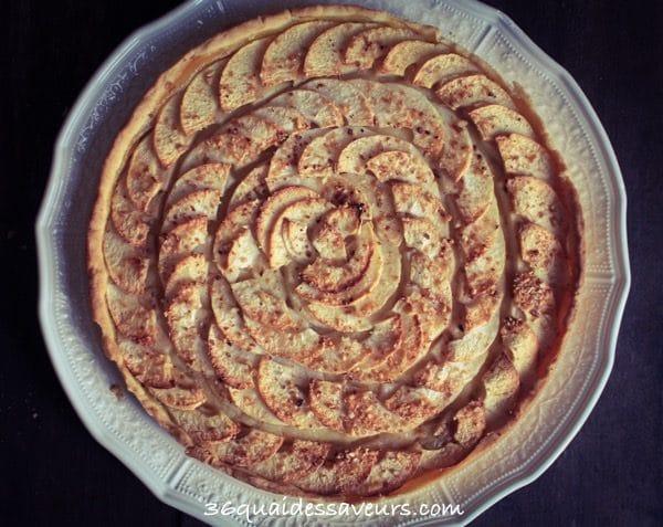 tarte aux pommes pâte sablée aux amandes1