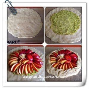 tarte rustique aux nectarines et aux pistaches2