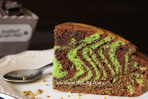zebra cake chocolat pistache