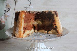 Charlotte chocolat et poires caramélisées1