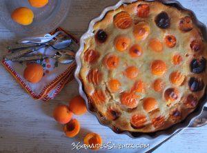 clafoutis aux abricots et au lait d'amandes